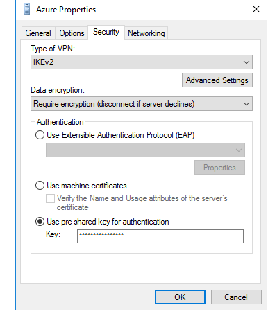 Create a S2S VPN connection using RRAS 2016 between Azure